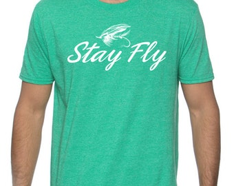 Stay Fly Fishing T-shirt For Men