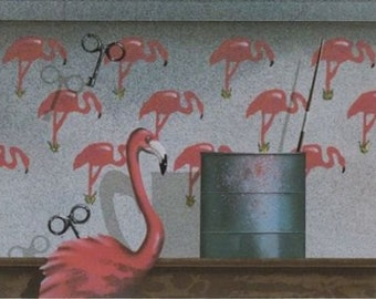 "James Carter  ""Wind Up (Flamingo)""  Original Serigraph-- (From the 1986 series: Toy Maker)"