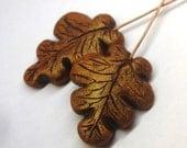 35% OFF Art bead realistic oak leaf polymer clay headpins