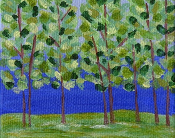 Mini Forest Painting with Easel