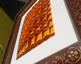 Origami Wall Art: Wave-scale/ Amber Waves