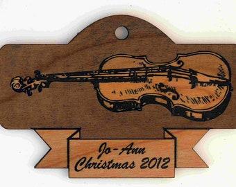 Custom Personalized Violin Christmas Ornament FREE Shipping