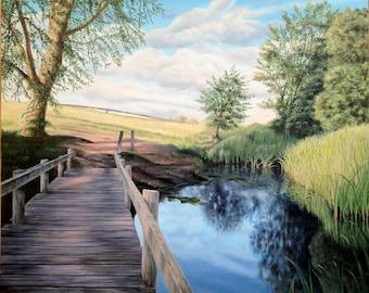 ferry meadows peterborough oil painting landscape jaydee models jonathan dewar