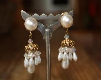 Clip on cluster of pearls