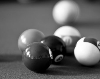 Billiard room decor, Pool room decor, Game room decor, Canvas art, Black and white picture, Bar art, Billiards decor, Game room // Billiards
