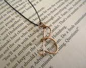 """Copper Wire Wrapped Letter """"B"""" Initial Pendant or Charm"""