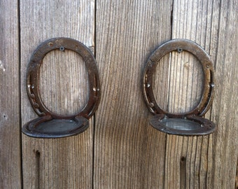 Set of 2 Horseshoe Candle Holder