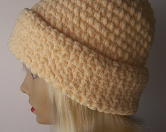 Yellow Chenille Hat