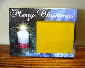 Christmas Picture Frame - Burning Candle