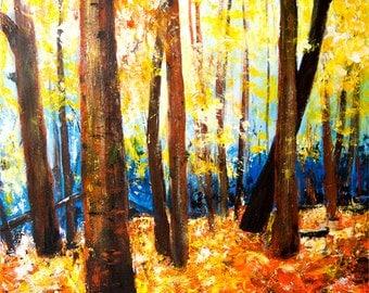 Autumn Number One original acrylic painting