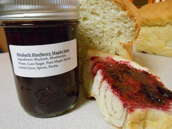 similar to Rhubarb Blueberry Maple Jam- made with pure maple syrup ...
