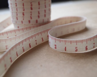 1Yard of 12mm Tape Measure Cotton Tape