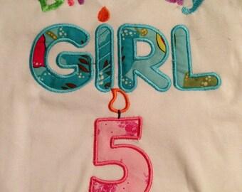 Birthday girl long sleeve shirt