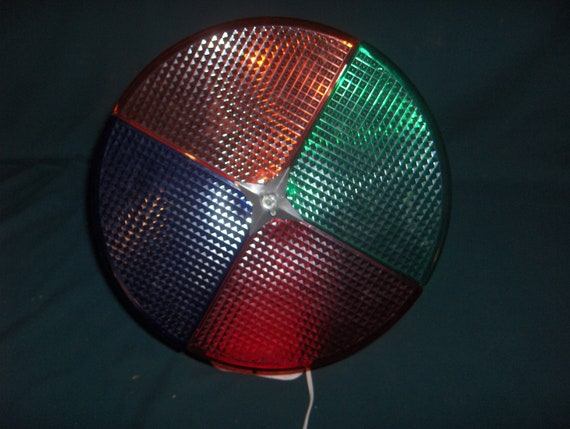 Vintage Holly Time Colorwheel Rotating Christmas Tree Light