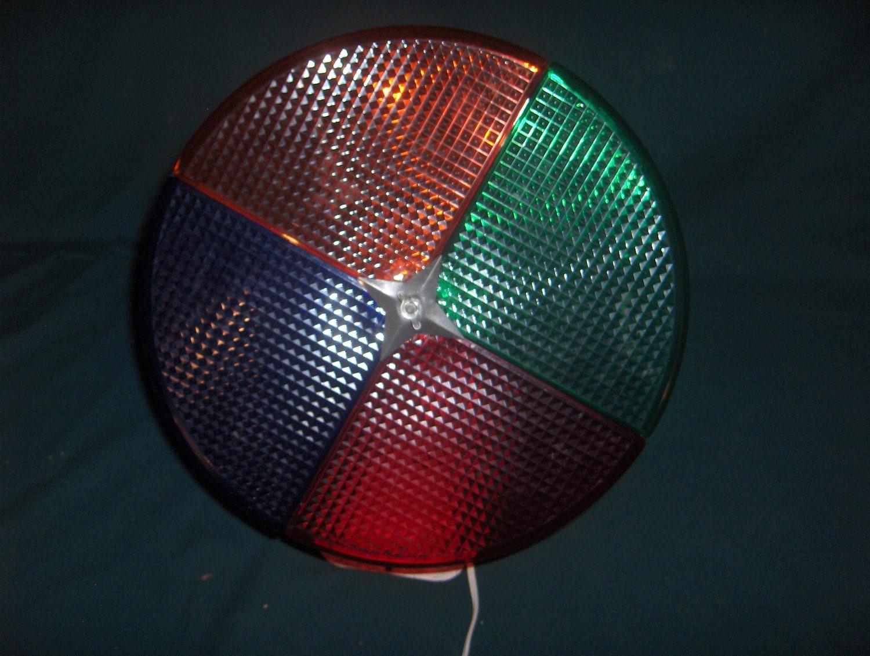 Vintage Holly Time Colorwheel Rotating Christmas Tree Light