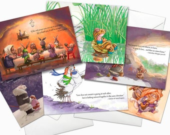 Packet of 6  5x7 inch greeting cards (TPC 1001)