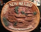 Price cut---Souvenir plastic 3D New Mexico tray