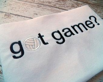 GOT GAME Volleyball Machine Embroidery Design