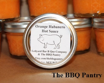 Orange Habanero Hot Sauce 4oz. from Ledyard Bar B Que Company  Chili Heads Will Love This Sauce
