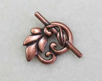 Leaf Toggle Clasp Copper Plate, 1 clasp  - Item 471