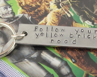 SALE - Follow Your Yellow Brick Road Keychain - Keyring Key Chain Key Ring