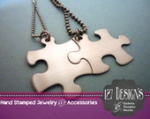 NON-CUSTOMIZABLE Stainless Steel Puzzle Piece Necklace Set