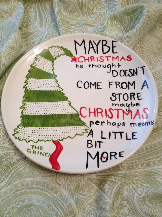 Holiday Grinch Plate