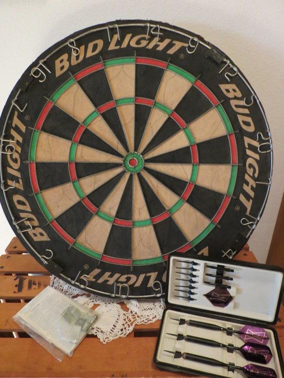 Vintage Pro Style Bristle Dart Board With Bud By Junkyarddog42