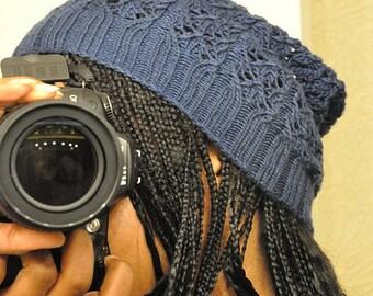 Lace Slouch Knit Hat