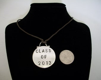 Sterling Silver Graduation Necklace - Class of 20xx