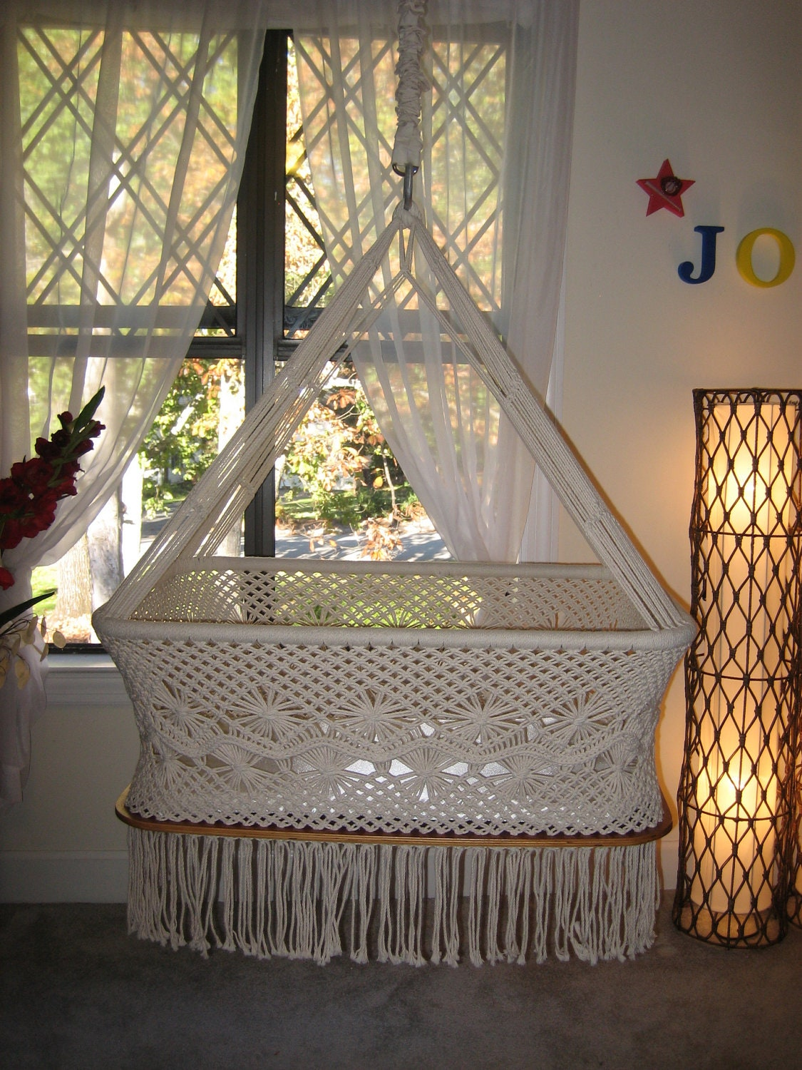 Spectacular Hand Woven Hanging Bassinet