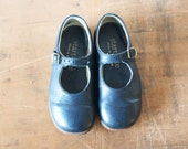 Vintage children's leather shoes 1980s - PemmysEmporium