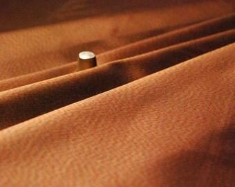 Haute couture taffetas, 100% Thaï Silk, abstract ikat copper, coupon