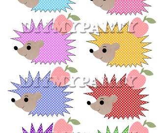 Printable party decor hedgehog Clip Art hedgehog clipart birthday decoration pdf file digital birthday party scrapbooking tags (243)