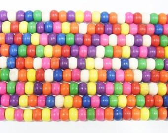 4x6mm Rondelle Magnesite Beads Genuine Natural 4471- 15''L Semiprecious Gemstone Bead Wholesale Beads Supply