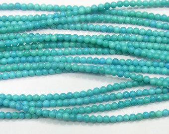 2mm Round Turquoise A Grade Gemstone Beads - 9021
