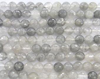 Cloudy Quartz Natural Genuine 12mm Round Cut 5567 15''L Semiprecious Gemstone Bead Wholesale Beads Supply