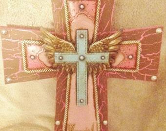 Cowgirl Angel Wing Cross