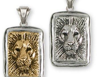 Solid Sterling Silver Lion Pendant - LION1P