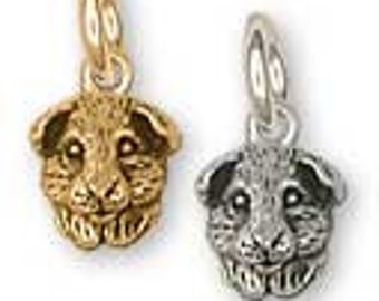 Solid Sterling Silver Guinea Pig Charm - GP4C