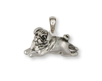 Sterling Silver Pug Pendant  - PG29P