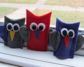 Felt Owl Finger Puppets-Set of 3