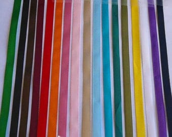 "15 Yards 1/4"" Satin Ribbon Your Choice Color"