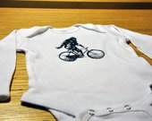 Sasquatch Stole My Ride:  3-6 month long sleeve white bodysuit
