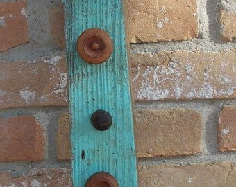 Primitive Wooden Knob Shelf