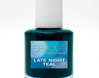 Sprout Non Toxic Late Night Teal Single Polish