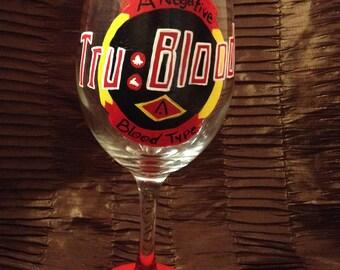 True Blood Fan Glass- Made to Order-