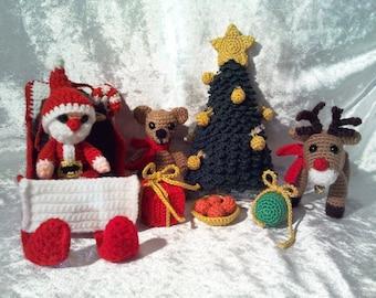 5 PDF crochet instructions Christmas