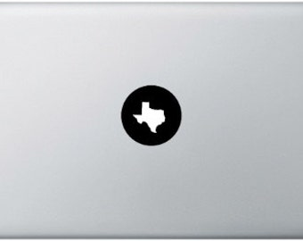 Texas MacBook Sticker, MacBook Pro, MacBook Air, Laptop Sticker, Vinyl Decal, USA, Federal state Texas America, Globe, Travel, World