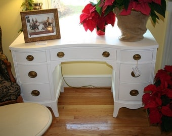 SOLD**Pure White Vanity or Desk